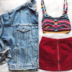 Kendall Vintage Distressed Denim Oversized Jacket